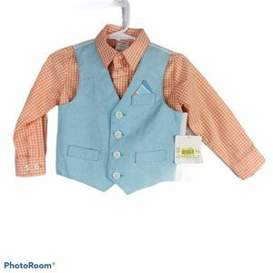 NWT Starting Out set baby 18M vest shirt outfit